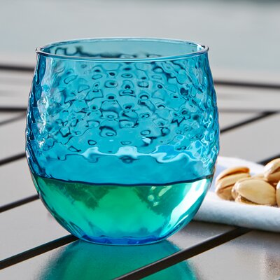 Granada Plastic Stemless Wine Glass Color: Aqua