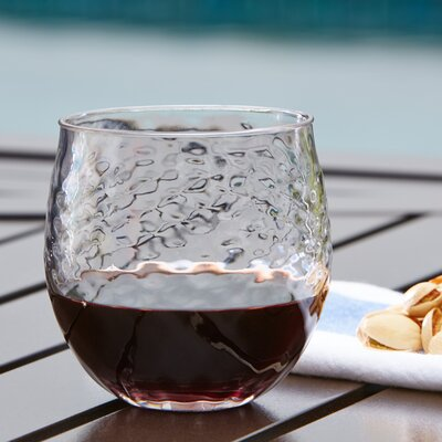 Granada Plastic Stemless Wine Glass Color: Clear