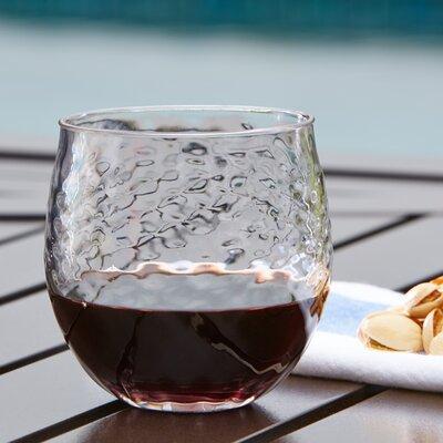 Granada Plastic Stemless Wine Glass Color: Clear