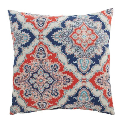 Merida Outdoor Pillow Color: Coral/Blue