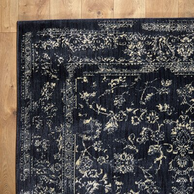 Regina Black & Ivory Rug Rug Size: 67 x 92