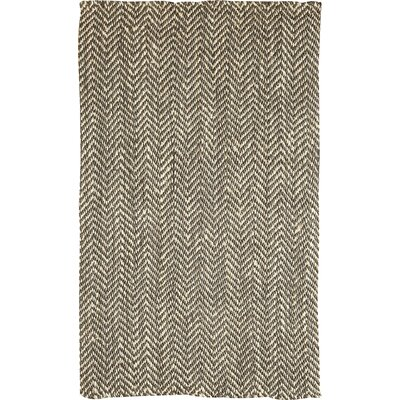 Sibley Hand-Woven Olive/White Jute Area Rug Rug Size: Rectangle 5 x 8