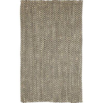 Sibley Olive & White Jute Rug Rug Size: 5 x 8