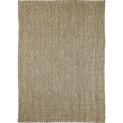 Sibley Hand-Woven Jute Pewter  Area Rug Rug Size: Rectangle 5 x 8