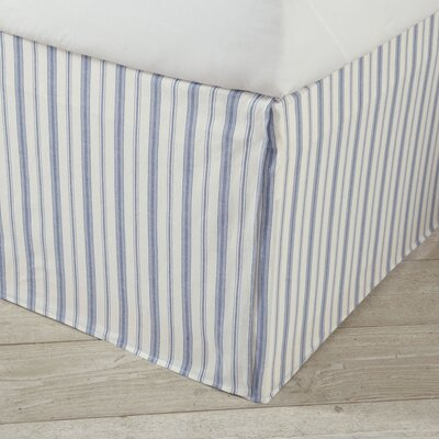 Karen Blue Bed Skirt Size: King