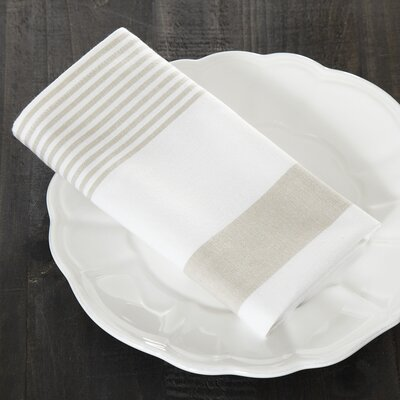 Hooper Striped Napkins (Set of 6) Color: Sandstone/White