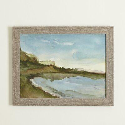 Seascape Watercolor Framed Print