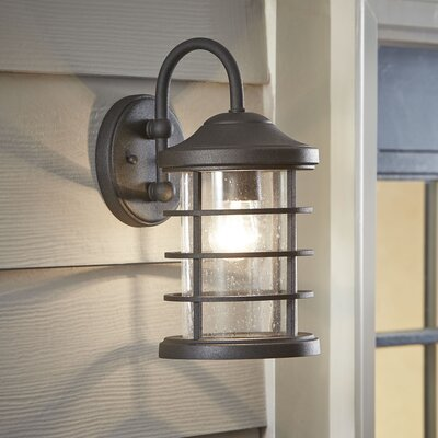Alanson Outdoor Wall Lantern Finish: Black