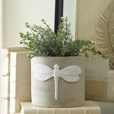 Dragonfly Cement Pot Planter (Set of 2)