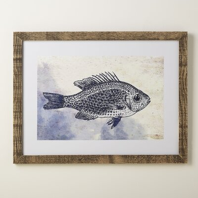 Fish Deep Blue Framed Print