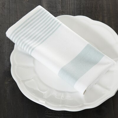 Hooper Striped Napkins (Set of 6) Color: Seaglass/White