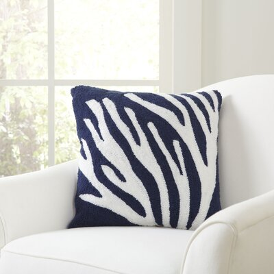 Staghorn Coral Hooked Pillow Cover