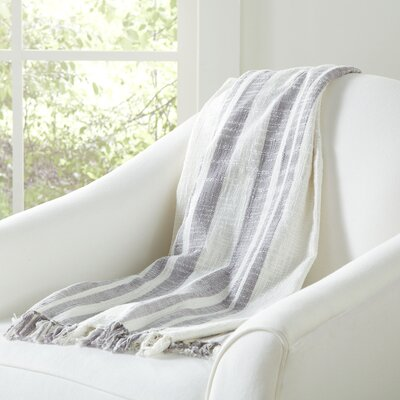 Margerie Throw Color: Off White / Gray