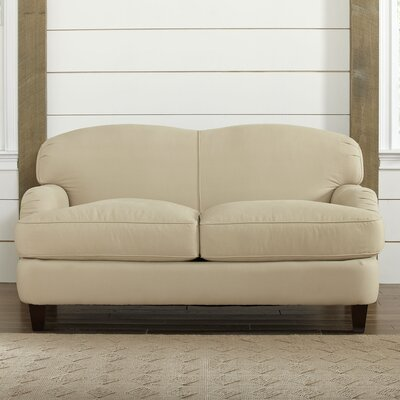 Cheshire Loveseat Upholstery: Belsire Chocolate