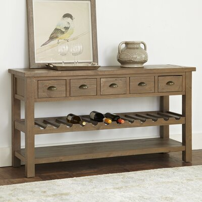 Seneca Wine Console Table