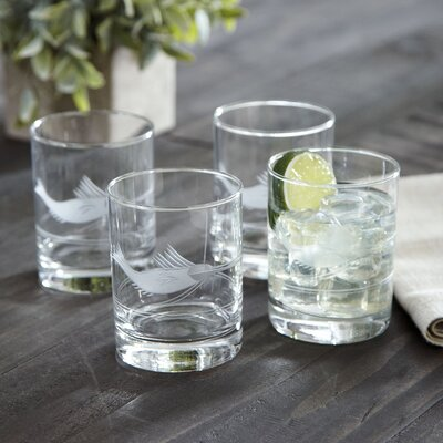 Swordfish Etched Rocks Glasses