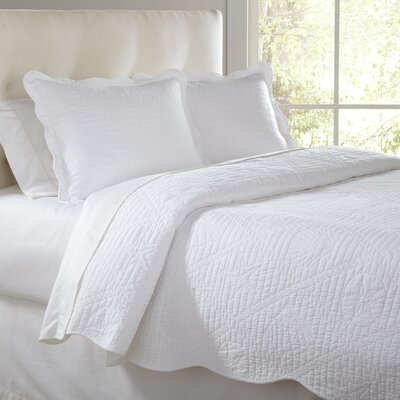 Susie Quilt Set Size: Full/Queen, Color: White