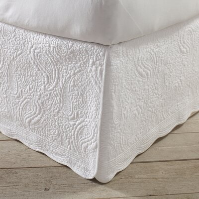 Josephine Quilted Bed Skirt Size: Twin