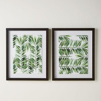 Palm Pattern Shadow Boxes