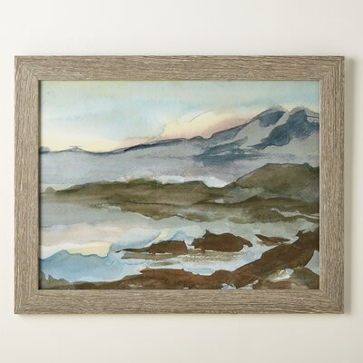 Landscape Watercolor Framed Print