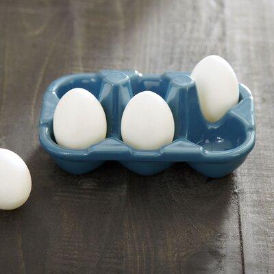 Ceramic Egg Carton Color: Blue