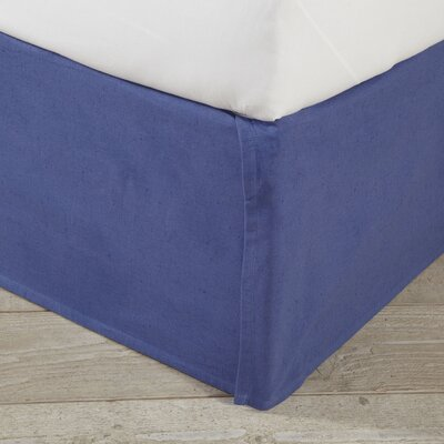 Shannon Bed Skirt Size: 78 W x 80 L, Color: Navy