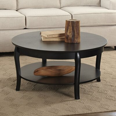 Alberts Round Coffee Table Color: Black