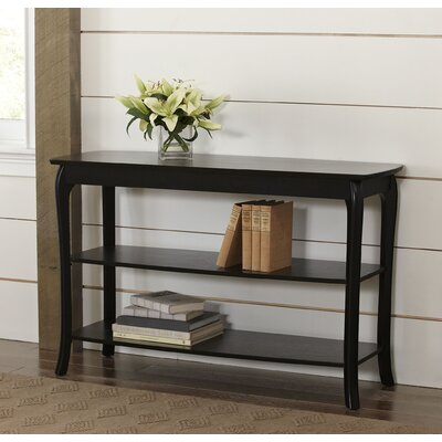 Alberts Console Table Finish: Black