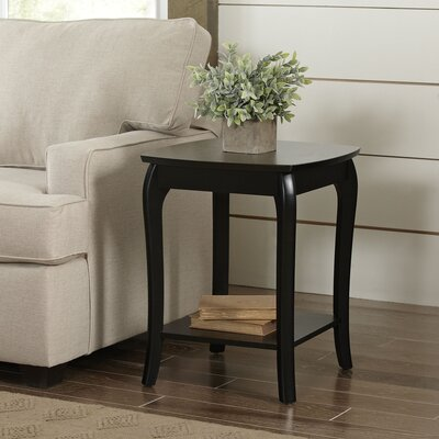 Alberts Square Side Table Color: Black