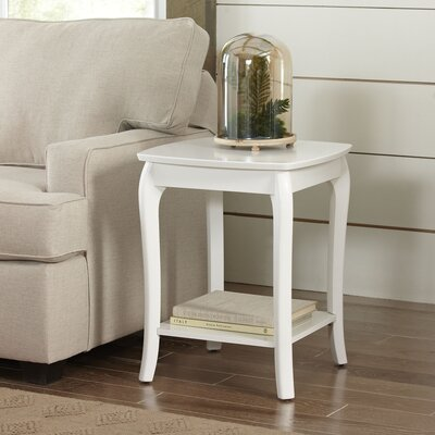 Alberts Square Side Table Color: White