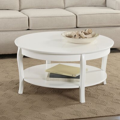 Alberts Round Coffee Table Finish: White
