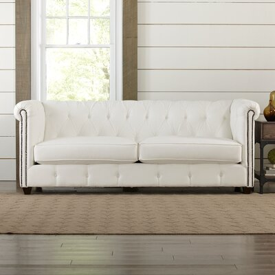 Hawthorn Chesterfield Sofa Upholstery: Belsire Coffee