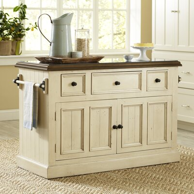 Harris Kitchen Island Finish: Ivory