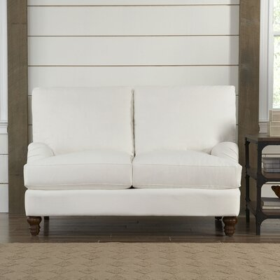 Montgomery Upholstered Loveseat Upholstery: Godiva Putty