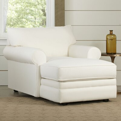 Newton Chaise Upholstery: Truman Cloud White Twill