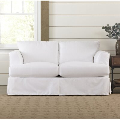 Clausen Loveseat Upholstery: Classic Bleach White