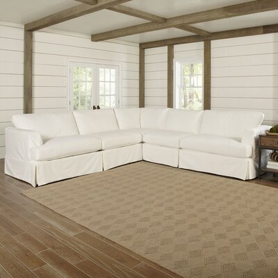 Clausen Sectional Upholstery: Classic Bleach White