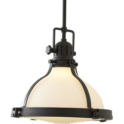 East Leon Pendant Finish: Polished Nickel, Size: 24 H x 19.5 W
