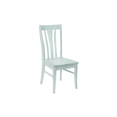 Brent Custom Solid Wood Dining Chair (Set of 2) Finish: Powder Blue
