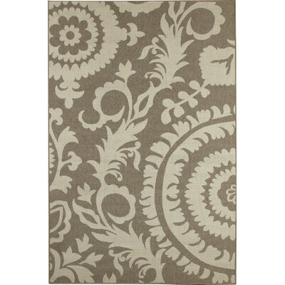 Hattie Natural & Parchment Indoor/Outdoor Rug Rug Size: 23 x 46