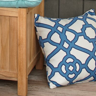 Manila Outdoor Pillow Color: Blue