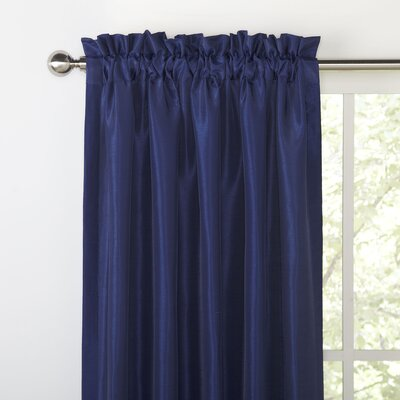 Priscilla Curtain Panel Size: 54 W x 63 L, Color: Blue