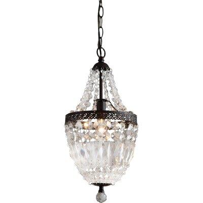 Evelynne 1-Light Crystal Pendant
