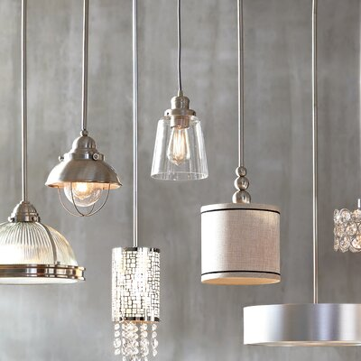Phillips 1-Light Mini Pendant Finish: Aged Graphite with Brass