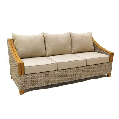 Desmond 78 Wicker & Teak Patio Sofa