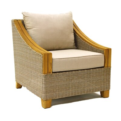 Desmond Wicker & Teak Arm Chair