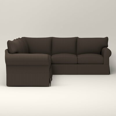 Jameson Symmetrical Sectional Upholstery: Jackson Storm Microsuede, Orientation: Right Facing
