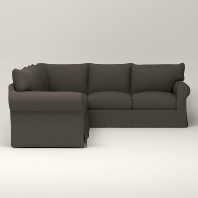 Jameson Symmetrical Sectional Upholstery: Bailey Charcoal Blended Linen, Orientation: Right Facing