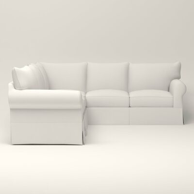 Jameson Symmetrical Sectional Upholstery: Truman Cloud White Twill, Orientation: Right Facing