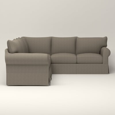Jameson Symmetrical Sectional Orientation: Right Facing, Upholstery: Bryant Slate Textured Slub
